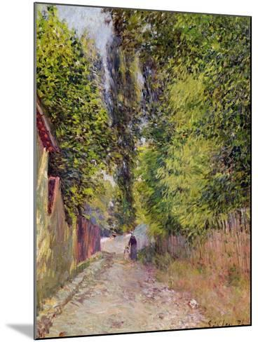 Landscape Near Louveciennes, 1876-Alfred Sisley-Mounted Giclee Print
