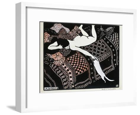 La Paresse, 1896-F?lix Vallotton-Framed Art Print