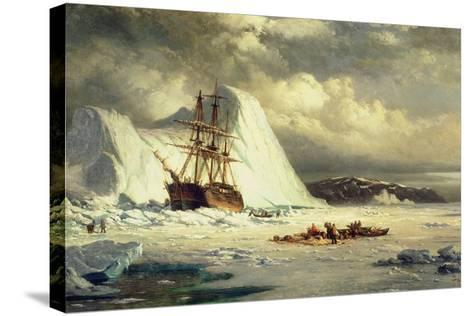 Icebound Ship, C.1880-William Bradford-Stretched Canvas Print