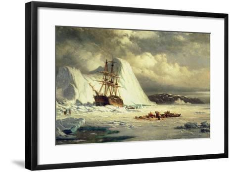 Icebound Ship, C.1880-William Bradford-Framed Art Print