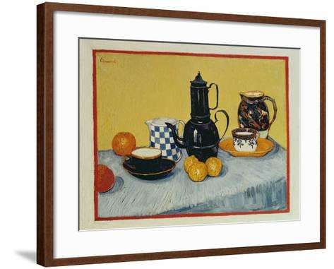 Still Life with Blue Enamel Coffeepot, Earthenware and Fruit, 1888-Vincent van Gogh-Framed Art Print