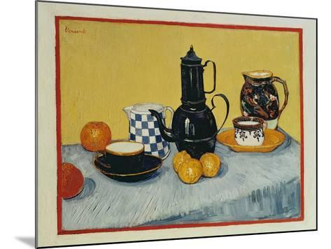 Still Life with Blue Enamel Coffeepot, Earthenware and Fruit, 1888-Vincent van Gogh-Mounted Giclee Print