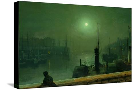On the Clyde, Glasgow, 1879-John Atkinson Grimshaw-Stretched Canvas Print