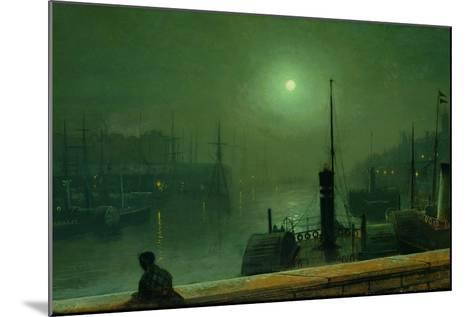 On the Clyde, Glasgow, 1879-John Atkinson Grimshaw-Mounted Giclee Print