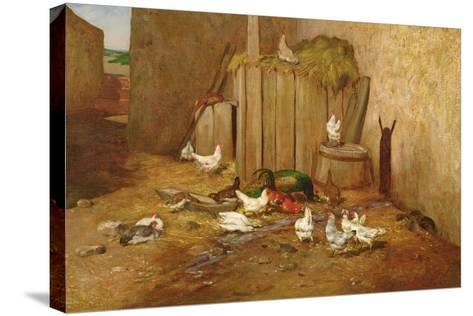 The Farmyard-Philibert-Leon Couturier-Stretched Canvas Print