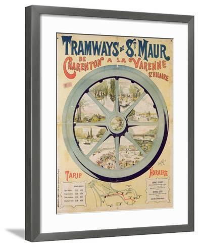 Poster Advertising the Tramways De St. Maur from Charenton to La Varenne-Saint-Hilaire, 1894--Framed Art Print