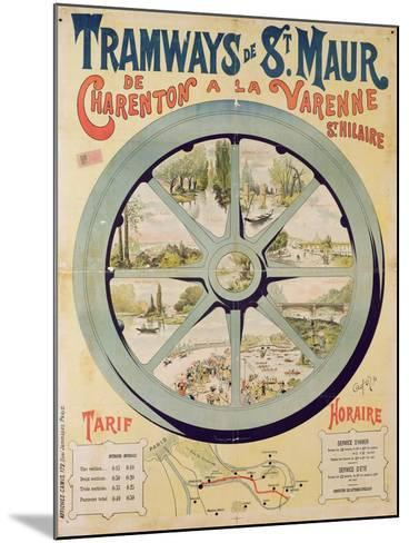 Poster Advertising the Tramways De St. Maur from Charenton to La Varenne-Saint-Hilaire, 1894--Mounted Giclee Print