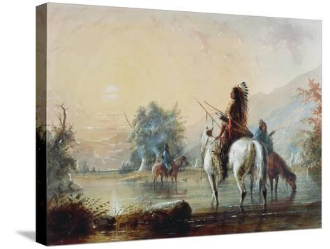 Crow Encampment, 1837-Alfred Jacob Miller-Stretched Canvas Print