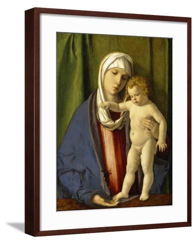Virgin and Child, C.1488-90-Giovanni Bellini-Framed Art Print