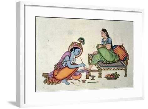 Radha and Krishna-Indian School-Framed Art Print