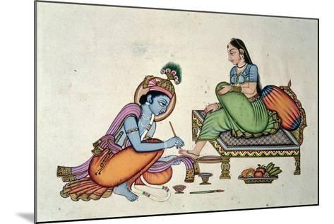 Radha and Krishna-Indian School-Mounted Giclee Print