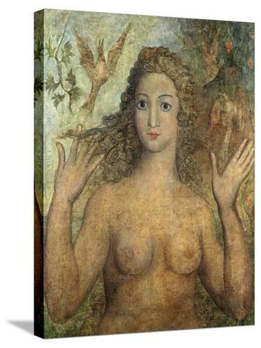 Eve Naming the Birds, 1810-William Blake-Stretched Canvas Print