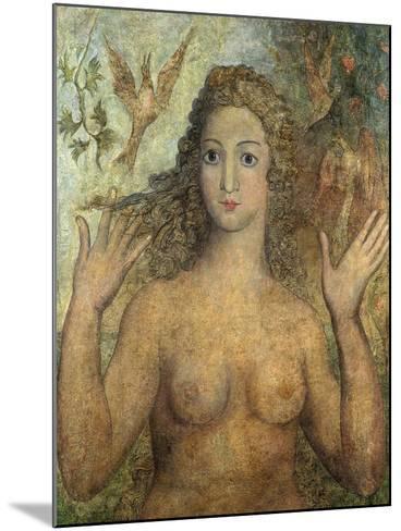 Eve Naming the Birds, 1810-William Blake-Mounted Giclee Print