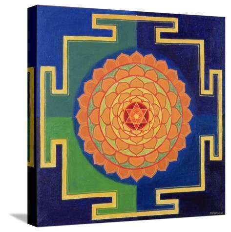 Gayatri Yantra Drawing--Stretched Canvas Print