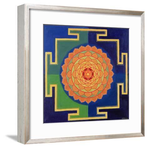 Gayatri Yantra Drawing--Framed Art Print