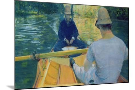 Boaters on the Yerres-Gustave Caillebotte-Mounted Giclee Print