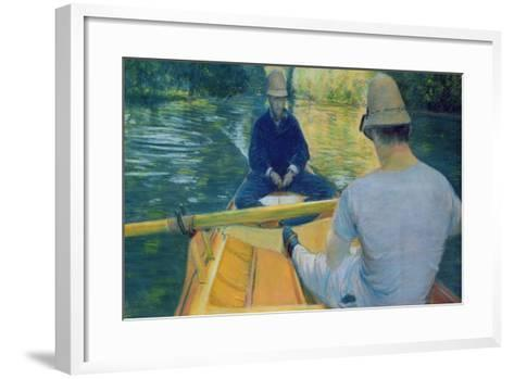 Boaters on the Yerres-Gustave Caillebotte-Framed Art Print