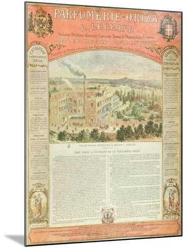 Advertisement for the Parfumerie Oriza L. Legrand, C.1884--Mounted Giclee Print