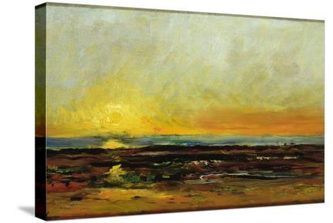 Sunset on the Sea Coast-Charles Francois Daubigny-Stretched Canvas Print