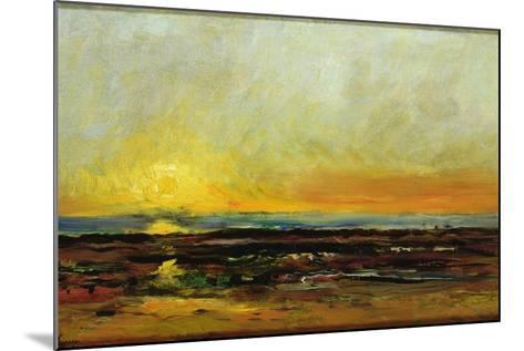 Sunset on the Sea Coast-Charles Francois Daubigny-Mounted Giclee Print