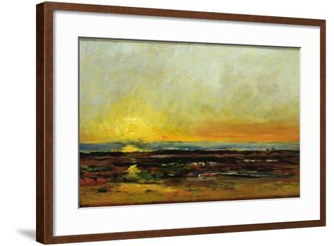 Sunset on the Sea Coast-Charles Francois Daubigny-Framed Art Print