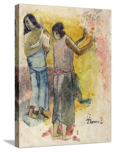 Two Figures, Study for 'Faa Iheiche', 1898-Paul Gauguin-Stretched Canvas Print