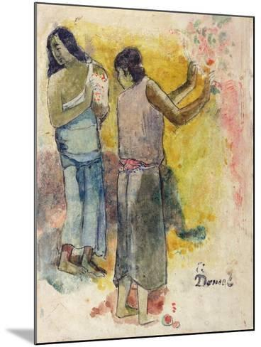 Two Figures, Study for 'Faa Iheiche', 1898-Paul Gauguin-Mounted Giclee Print