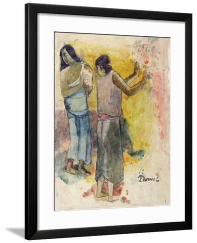 Two Figures, Study for 'Faa Iheiche', 1898-Paul Gauguin-Framed Art Print
