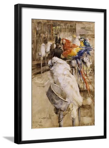 The Aviary, Clifton, 1888-Joseph Crawhall-Framed Art Print