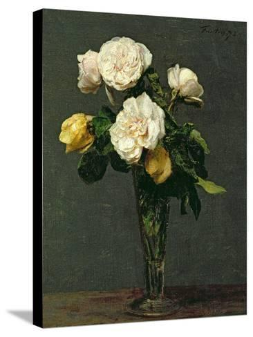 Roses in a Champagne Flute, 1873-Henri Fantin-Latour-Stretched Canvas Print