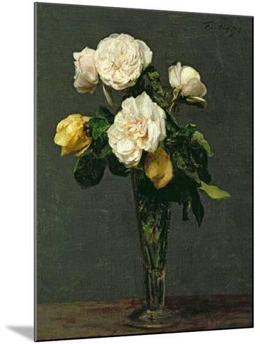 Roses in a Champagne Flute, 1873-Henri Fantin-Latour-Mounted Giclee Print