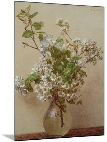 Pear Blossom, 1882-Henri Fantin-Latour-Mounted Giclee Print