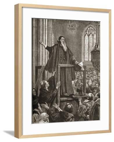 Thomas Cranmer's (1489-1556) Last Testimony--Framed Art Print