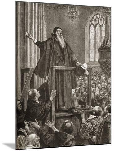 Thomas Cranmer's (1489-1556) Last Testimony--Mounted Giclee Print