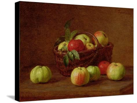 Apples in a Basket and on a Table, 1888-Henri Fantin-Latour-Stretched Canvas Print