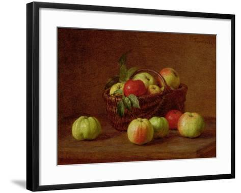 Apples in a Basket and on a Table, 1888-Henri Fantin-Latour-Framed Art Print
