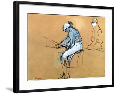 Jockeys-Edgar Degas-Framed Art Print