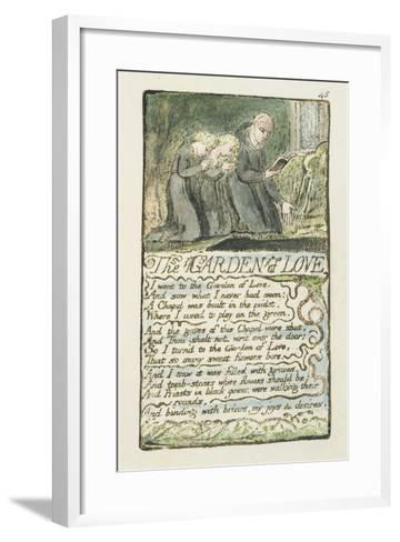 'The Garden of Love', Plate 45 from 'Songs of Innocence and of Experience', 1789-94-William Blake-Framed Art Print