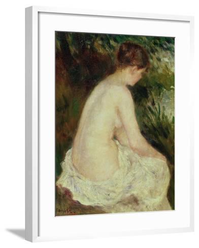 Bather, 1879-Pierre-Auguste Renoir-Framed Art Print