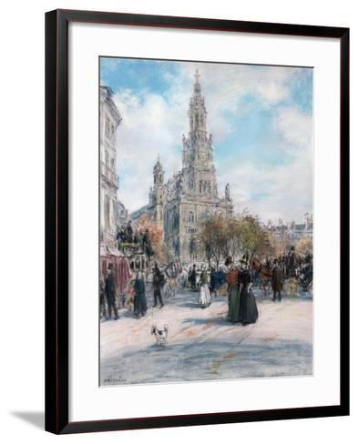 Paris, La Place De Trinite-Jean Francois Raffaelli-Framed Art Print
