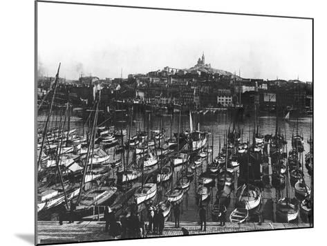 The Old Port and Notre-Dame De La Garde at Marseille, C.1900--Mounted Photographic Print