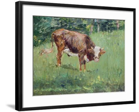 Young Bull in a Meadow, 1881-Edouard Manet-Framed Art Print