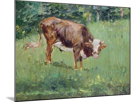 Young Bull in a Meadow, 1881-Edouard Manet-Mounted Giclee Print