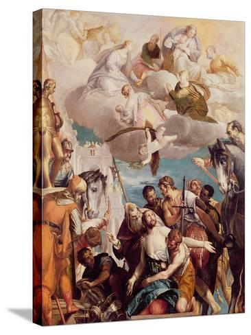 The Martyrdom of St. George-Paolo Veronese-Stretched Canvas Print