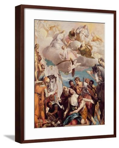 The Martyrdom of St. George-Paolo Veronese-Framed Art Print
