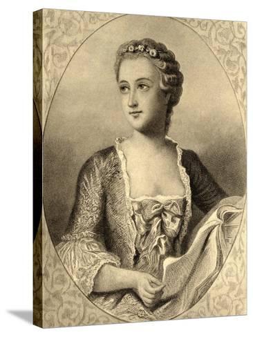 Madame De Pompadour (1721-64)--Stretched Canvas Print