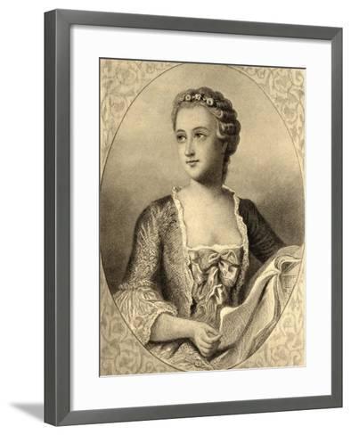 Madame De Pompadour (1721-64)--Framed Art Print