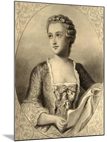 Madame De Pompadour (1721-64)--Mounted Giclee Print