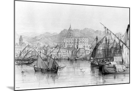 View of Malaga, from 'spanish Scenery' by George Vivian, Published 1838--Mounted Photographic Print