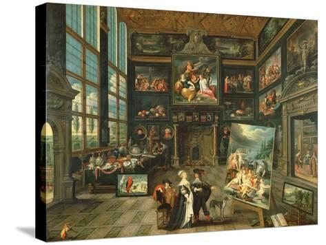 Interior of a Gallery, 1637-Cornelis de I Baellieur-Stretched Canvas Print